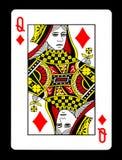 Rainha do cartão de jogo dos diamantes, fotos de stock