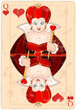 Rainha do cartão dos corações Fotografia de Stock