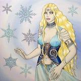Rainha do gelo Fotos de Stock Royalty Free