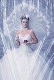 Rainha do gelo em seu castelo Imagens de Stock