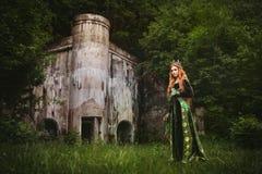 Rainha do gengibre perto do castelo imagens de stock