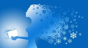 Rainha do inverno Ilustração do Vetor