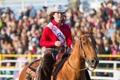 Rainha do rodeio - irmãs, rodeio 2011 de Oregon Fotografia de Stock
