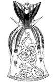 Rainha do traje da fantasia do esboço Imagens de Stock