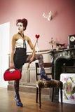 Rainha dos corações Foto de Stock Royalty Free