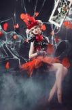 Rainha dos corações Fotografia de Stock