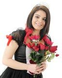 Rainha dos corações e das rosas Foto de Stock Royalty Free