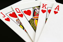 Rainha dos corações Fotos de Stock Royalty Free