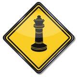 Rainha e grandiosidade da xadrez ilustração stock