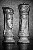 Rainha e rei Chess Pieces Foto de Stock Royalty Free