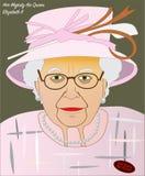 A rainha Elizabeth II ilustração royalty free