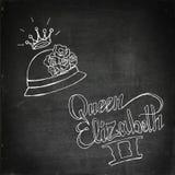 Rainha Elizabeth II ilustração royalty free