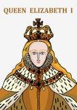 Rainha Elizabeth mim ilustração stock
