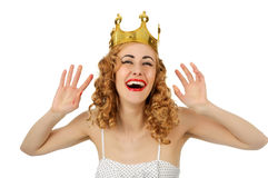 Rainha feliz agradável Fotografia de Stock