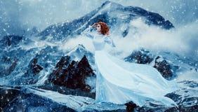 Rainha luxuosa da neve Fotografia de Stock