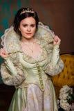 Rainha no vestido real Fotos de Stock Royalty Free