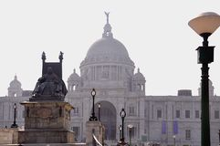Rainha que dá boas-vindas em Victoria Memorial, Kolkata - Bengal ocidental, Índia imagem de stock