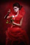 Rainha vermelha imagem de stock