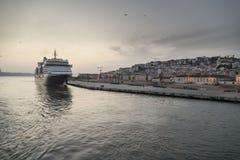 A rainha Victoria de Cunard Fotos de Stock Royalty Free