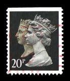 Rainha Victoria e rainha Elizabeth II, 150th aniversário do serie de Penny Black, cerca de 1990 foto de stock