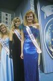 Rainhas da beleza no flutuador na parada bicentenária americana, Philadelphfia, Pensilvânia Fotografia de Stock