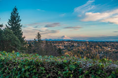 Rainier From Burien 5. A view of Mount Rainier from Burien, Washington royalty free stock image