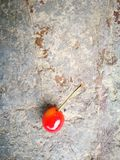 Rainier Cherries lying on the ground with different background Royalty Free Stock Photo