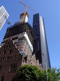The Rainier Club, building under construction, and Columbia Cent Stock Image