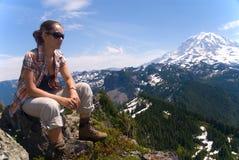 Rainier hiking Royalty Free Stock Photos