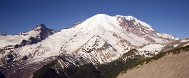 Mt Rainier Morning view Burroughs Mountain Horizon Stock Photography