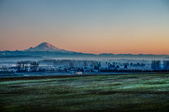 Rainier From Kent HDR Immagine Stock