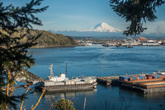 Rainier and Port Panoramic 3 Royalty Free Stock Photography