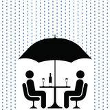Raining as usual. The great British summer raining as usual Stock Illustration