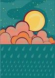 Raining background.Retro Royalty Free Stock Image