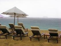 Raining beach Stock Photography