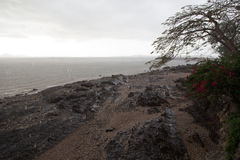 Raining on the beach of Yong Star in Palian, Trang Royalty Free Stock Photo