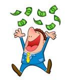 Raining cash royalty free illustration