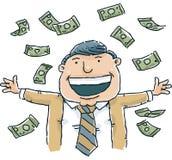 Raining Cash Royalty Free Stock Images