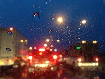 Background. The traffic jam after the raining stock photo