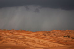 Raining in desert  Stock Images