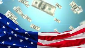Raining dollar bills video stock video footage