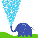 Raining elephant Stock Images