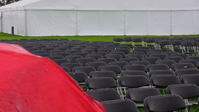 Raining. Empty seats stock footage
