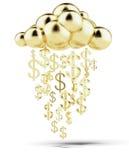 Raining gold dollars stock illustration