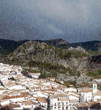 Raining in Grazalema Royalty Free Stock Image