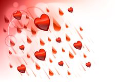 Raining hearts Royalty Free Stock Photography