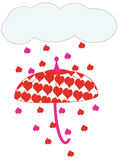 Raining Hearts Stock Images