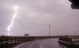 Raining Horizontally Thunderstorm Texas Gulf Of Mexico West Bay Stock Photography