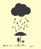 Raining Like Spoon Kitchen Cutlery Stock Images