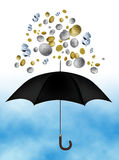 Raining money. An illustration of raining money Royalty Free Stock Photo